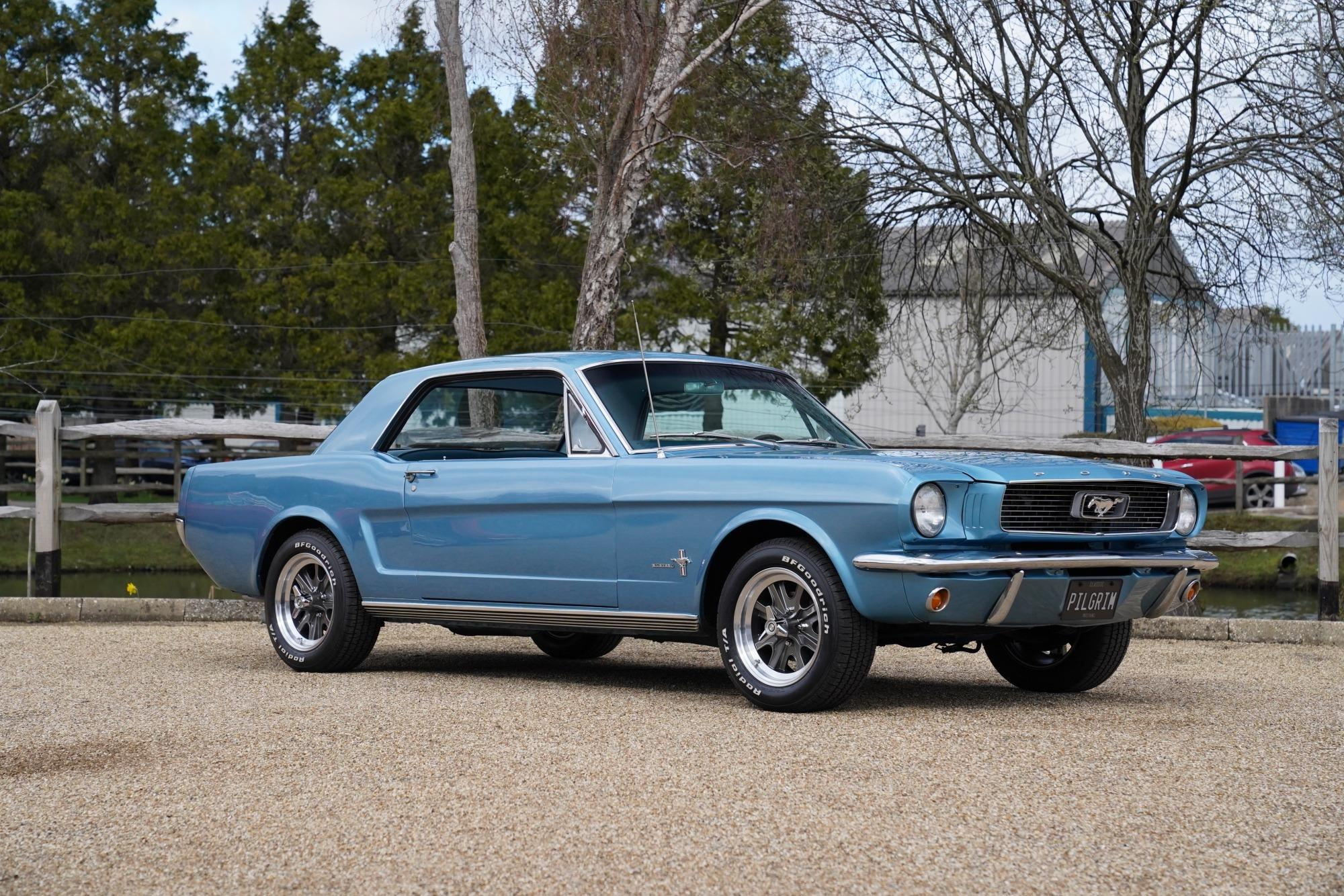 1966 ford mustang coupe auto light blue slide 1 of 33