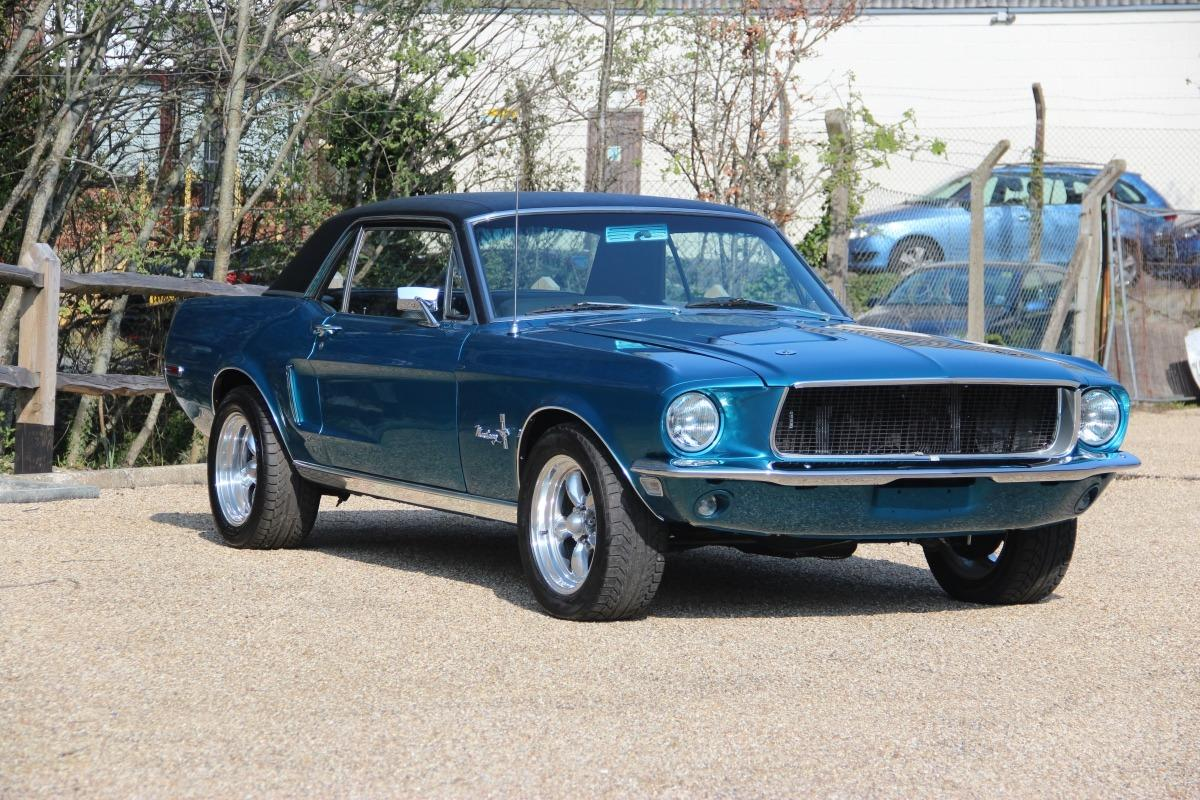 1968 Ford Mustang 351 GT Coupe Auto Lagoon Blue Metallic ...