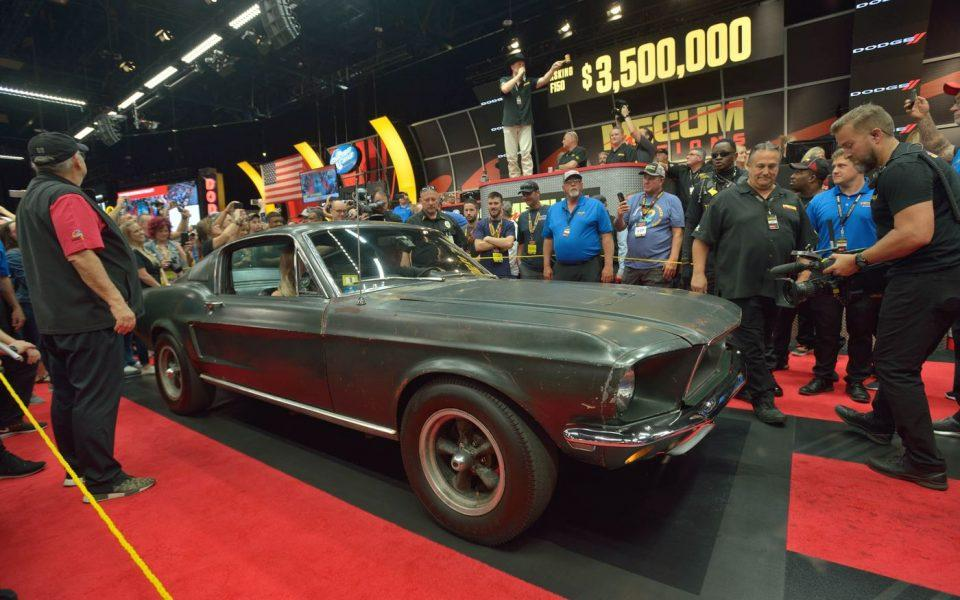 Steve McQueen's Bullitt Mustang Sells for a Record $3.4 Million