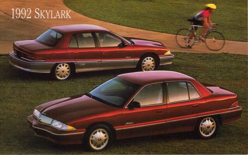 Caption: 1992 Buick Skylark