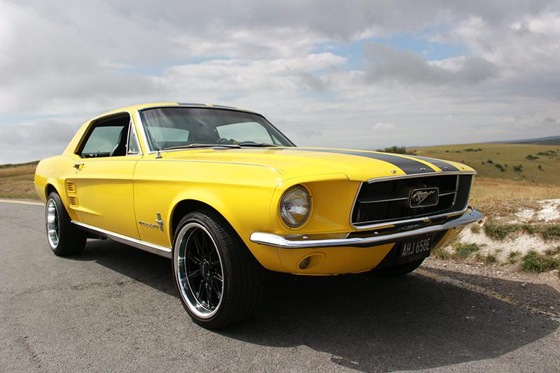 Caption: 1967 Ford Mustang 302 High Performance Coupe. Muscle Car UK.