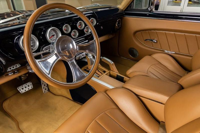 1965-Pontiac-GTO-restomod-Vanguard-Motor-Sales-tan-interior